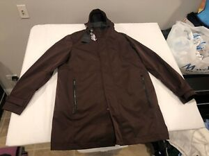 NWT $665.00 Ted Baker Mens Stack Hooded Mac 3-in-1 Coat Dark Red Size 5 - XL