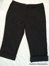 "Adidas Stretch Clima Cool Casual Cuffed Capri Pants  Womens Sz 12, 33x19"" Black"