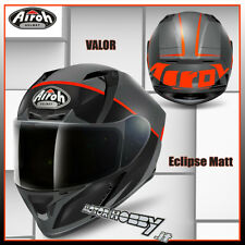 CASCO INTEGRALE MOTO AIROH VALOR ECLIPSE ORANGE MATT TAGLIA M VISIERA CHIARA