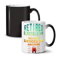 Electrician Retired NEW Colour Changing Tea Coffee Mug 11 oz | Wellcoda