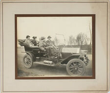 VINTAGE MOUNTED IMAGE OF A FAMILY RIDING IN AN EARLY CAR, PITTSBURGH, PA.