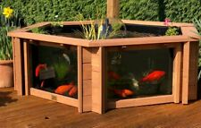 More details for **preorder* lily clear view garden aquarium brown raised pond with large windows