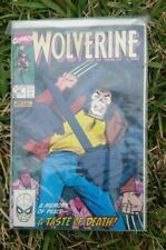 Wolverine a memory of Peace A Taste of death 1990 Book Magazine Vintage rare