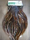 Fly Tying Whiting Hebert/Miner Silver Rooster Saddle Medium Brown #A