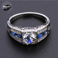 6-10 Ring Wholesale Vintage Wedding Sapphire Topaz Engagement White
