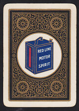 1 Single VINTAGE Playing/Swap Card OLD WIDE RED LINE MOTOR SPIRIT FUEL TIN Gold