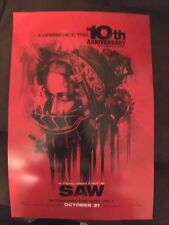SAW 10TH ANNIVERSARY AMANDA SHAWNEE SMITH FACE CARY EWLES 13.5x20 MOVIE POSTER
