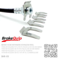 BRAKE HOSE CLIPS STAINLESS STEEL X5 [HOLDEN VB-VK-VL-VN-VT-VY-VZ-VF COMMODORE]
