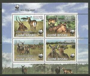 STAMPS-GUINE-BISSAU. 2008. WWF Fauna Miniature Sheet. Michel: 3564/67. MNH