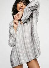 NEW CP Shades Alex Stripe Linen Hoodie Size Medium Tunic Top
