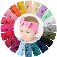 20pcs 4.5in Hair Bows Soft Elastic Nylon Headbands for Baby Girls Infant Toddler