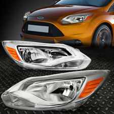 FOR 12-14 FORD FOCUS CHROME HOUSING AMBER CORNER HEADLIGHT REPLACEMENT HEAD LAMP