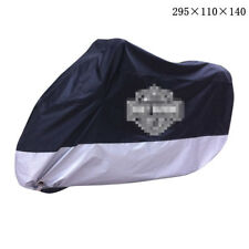 Blue+Silver Super Large 4XL 295x110x140 Motorbike Cover Windproof for Harley