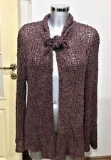 cocon.commerz Privatsachen Cardigan Jacket 100% silk Freesize Oversize Brown