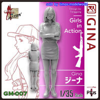 ZLPLA Genuine 1/35 Girls in Action Gina Resin Figure Assembly Model Kit GM-007