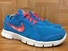 Used�� Nike Flex Experience RN 2 Hero Blue Atomic Red Pink Sz 9 599548-400