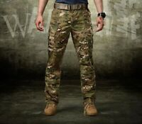 Mens Military Pants Tactical Combat Cargo Army Outdoor Casual Trousers CP Camo