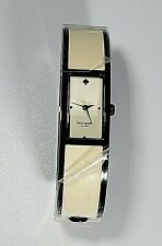 Kate Spade Women's Cream Carousel Bangle Watch Cream With Black Outline
