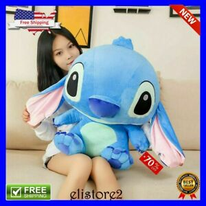 Lilo And Stich Cute Blue Model 35cm Giant Stuffed Plush Doll Kids Boys Toy Gift