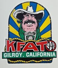 KFAT Radio Station Classic 1970's Vintage Style Sticker Decal V15 Gilroy CA