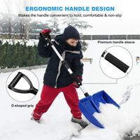 Blue Portable Shovel Snow Remove Adjust Handle for Car Truck Driveway Garden