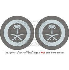 SAUDI ARABIA AirForce LowVis Aircraft Roundel RSAF S.Arabian 75mm Stickers x2