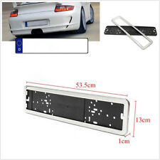 Universal Car European/ German / Russian License Plate Number Frame Silver Color