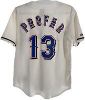 Majestic Texas Rangers Jurickson Profar #13 MLB Baseball Jersey USA Made Sz Lg