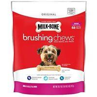 Milk-Bone Brushing Chews Daily Dental Dog Treats 68 Ct Treats Mini