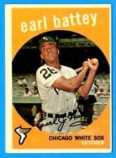 1959 Topps EARL BATTEY (Chicago White Sox) Card # 114  (vg)