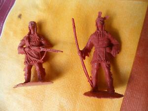 Karl May Western  Indianer Winnetou + gr. Bär Figuren Kunststoff Braun