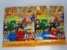 LEGO Series 18 CMF Collectible Minifigures 71021 - Brick Girl and Boy Sealed