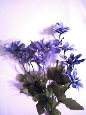 Artificial Flowers Blue Daisies Daisy Fake Blue white Stem Bunch Floral Wedding