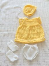 "Hand Knitted Dolls Clothes Fit 14-15"" Doll 4 Piece Set"