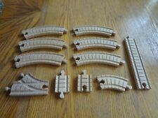 LOT OF 11 PIECES THOMAS & FRIENDS CLICKETY CLACK WOODEN TRAIN TRACK