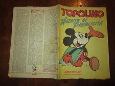 WALT DISNEY ALBO D'ORO N°49 TOPOLINO AGENTE DI PUBBLICITA' 19-4-1947