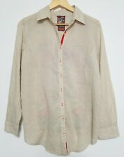 Johnny Was Floral Striped Embroidered Cotton Silk Blouse Top M Medium