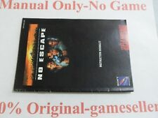 No Escape SNES Manual Only, 100% original, Free Shipping