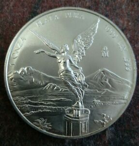1999 Mexican Libertad 1 Oz .999 Fine Silver Mexico ounce