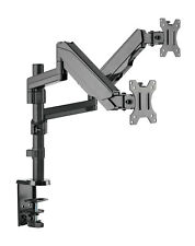 Dual Gas Spring Monitor Arm HD LCD Desk Mount Stand Display Screen TV