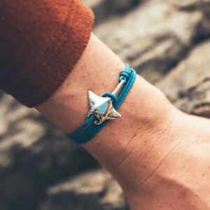 Cape Clasp MANTA RAY Bracelet sterling silver bronze waterproof adjustable cord