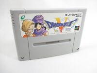DRAGON QUEST V 5 Super Famicom Nintendo Free Shipping sfc
