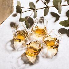 Diamond Shot Glasses Set of 4 Whiskey Spirit Glass Unique Drinking Gift