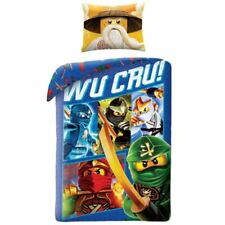 Lenzuola e federe blu marca Lego lavabile in lavatrice