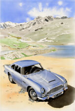 ASTON MARTIN DB5 SILVER IN SWITZERLAND CHRIS DUGAN GICLEE PRINT DB 5