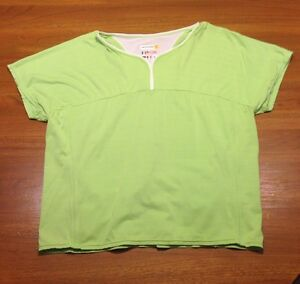 Cannondale Feel It Women's Cycling Shirt Green Pockets Large L Light Bicycling
