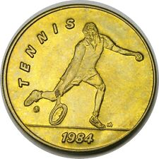 elf 1984 Olympics Bus Token  Tennis