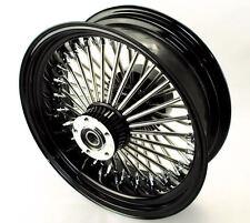 16 X 5.5 Black 52 Fat Mammoth Spoke Rear Wheel ABS Harley Touring Cush 09-2017