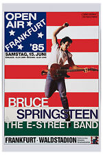 The Boss: Bruce Springsteen Frankfurt Germany Poster Circa 1985