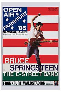 The BOSS: Bruce Springsteen Frankfurt Germany  Poster 1985  12x18